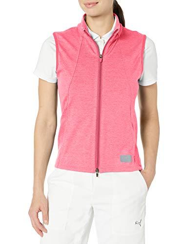 PUMA Golf 2020 Cloudspun Chaleco para mujer, Rapture Rose Heather, doble x grande