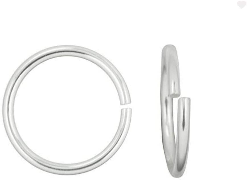 20pcs Authentic 925 Sterling Silver Sale special price Super Special SALE held Open Jump 0.24 Rings in 6mm