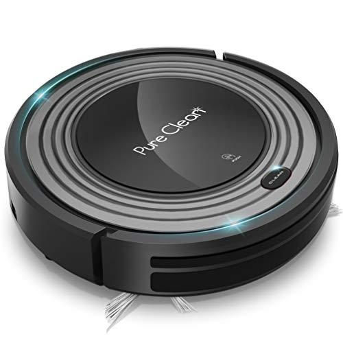 Robot aspirador programable automático, filtro HEPA para pelo de mascotas y alergias, limpieza automática del hogar, alfombra, piso...