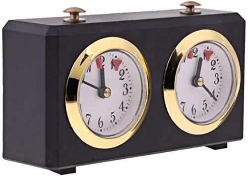 HHYSPA Temporizador De Reloj De Ajedrez, Temporizador De Juego De Reloj De Ajedrez Profesional, Temporizador De Juego De Ajedrez MecáNico para Juego De Mesa De Torneo