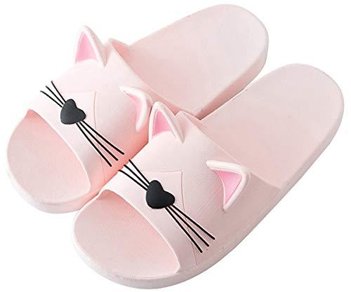 Jungen Mädchen Pantoletten Kinder Hausschuhe rutschfeste Sandalen Sommer Flache Leicht Slipper Badelatschen Dusch-& Badeschuhe -Damen Pink-36/37 EU