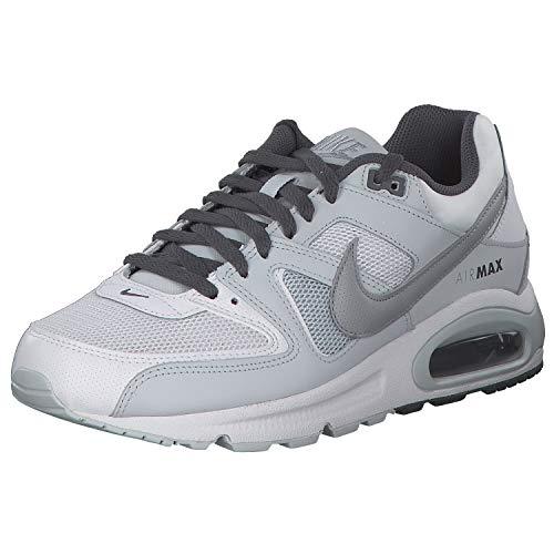 Nike Air Max Command, Scarpe da Ginnastica Basse Uomo, Multicolore (White/Wolf Grey-Pure...