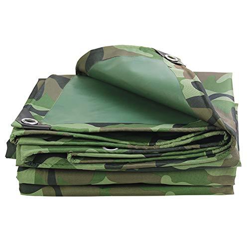 LXLA- Bâches de camouflage épaisses avec oeillets, bâches imperméables polyvalentes, résistantes à l'usure et aux déchirures - 420g / m² (taille : 4.5m x 8m)