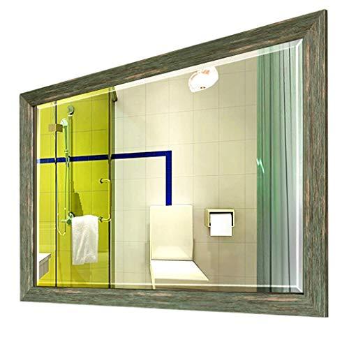 Household Necessities/wandspiegel badkamerspiegel in landhuisstijl vierkant HD-spiegel verdikte rand gootsteen spiegel helder 60x80cm
