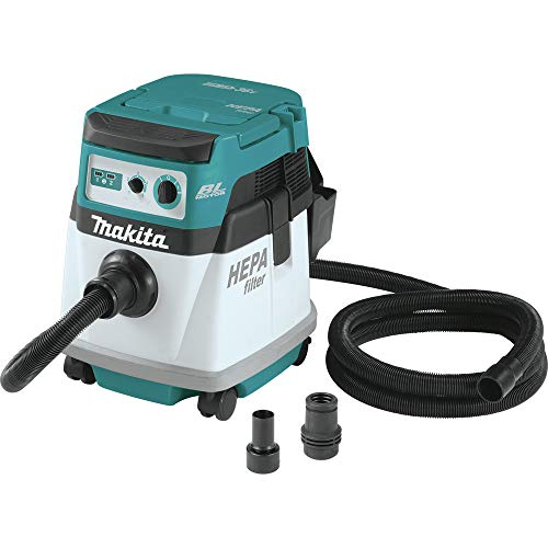 Makita XCV15ZX 18V X2 LXT Lithium-Ion (36V) Brushless Cordless 4 Gallon HEPA Filter Dry Dust Extractor, Tool Only