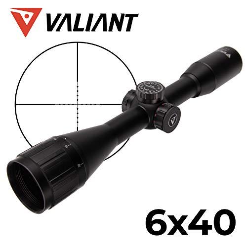 VALIANT Zielfernrohr 6x40 Lynx MIL-DOT Inkl. Montage 11mm Schienen Rot Beleuchtet Für Luftgewehr und Jagdgewehr