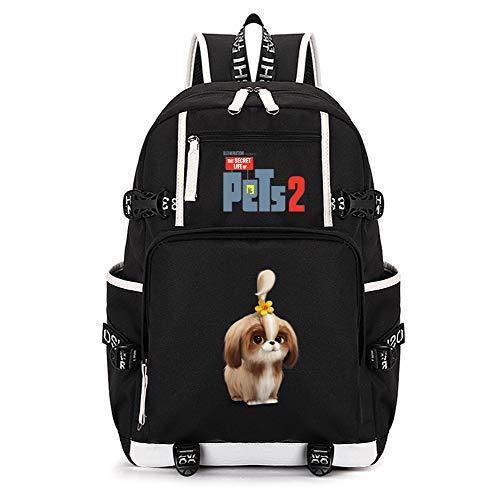 The Secret Life of Pets Mochilas Escolares Mochila portátil compacta y ligera bolsa de viaje de la escuela portátil Simple elegante muchachos y niñas bolsa de la escuela de la escuela de la escuela de