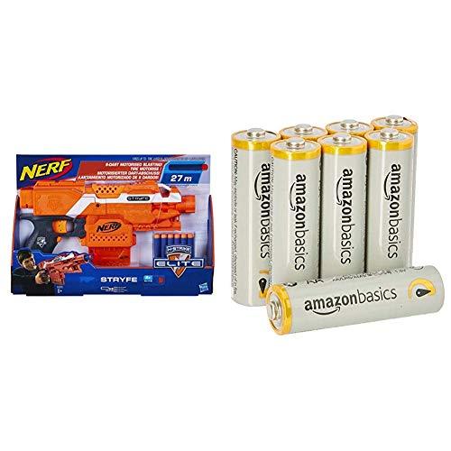Hasbro A0200EU4 - N-Strike Elite Stryfe halbautomatischer Spielzeugblaster mit AmazonBasics Batterien