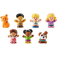 Fisher-Price Little People Friends & Pets Figure Pack, Set of 7 Character Figures for Toddlers and Preschool Kids Ages 1 to 5 Years