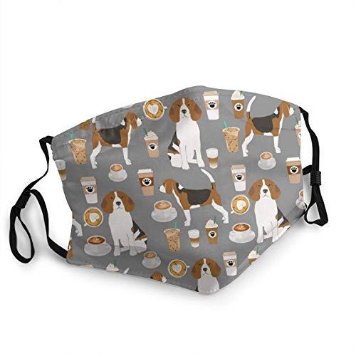 Classic Beagle Scatter Stone - Bandana para adultos, cuello de cara, máscara, polvo, transpirable, resistente al viento, pesca, senderismo, correr, ciclismo