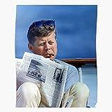 Smoking John F Kennedy Poster, Beeindruckende Poster für
