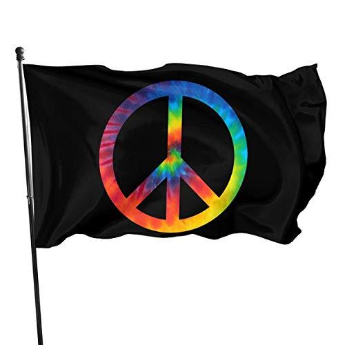 WH-CLA Jardín Banner De Tie Dye Símbolo De La Paz Casa De Campo Patio Interior Jardín Banderas De Jardín Hogar 150X90 Cm Banderas De Pared Decoración Bandera De Patio Actividades del FES