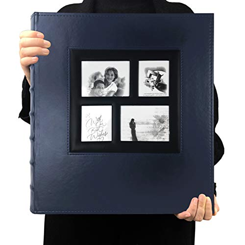 RECUTMS 600 Photo Picture Album Memo Album Slots Album PU Leather Cover Sewn Bonded Holds 4x6 Photos 5 Per Page Family Album Gift