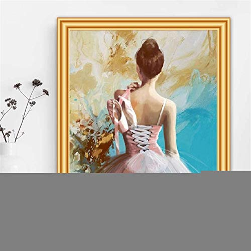 DIY 5D Pintura de Diamante taladro completo kit Chica de ballet Diamond Painting kit adultos punto de cruz rhinestone bordado diamante arte Para Decoración de la Pared del Hogar Round Drill,40x50cm