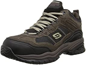 Skechers Men's Work Relaxed Fit Soft Stride Canopy Comp Toe Shoe, Brown/Black - 10 D(M) US