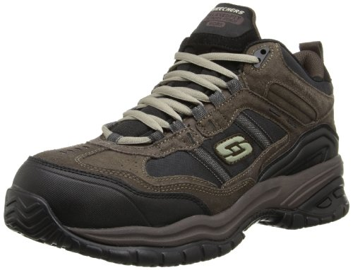 Skechers Men's Work Relaxed Fit Soft Stride Canopy Comp Toe Shoe, Brown/Black - 10.5 3E US