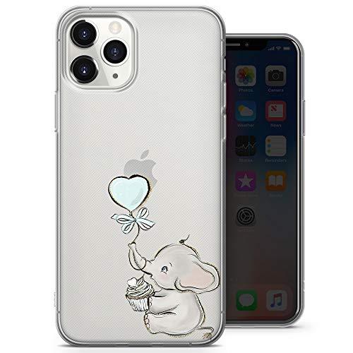 Funda de gel suave transparente con diseño de elefante para iPhone 6+, iPhone 6S Plus, iPhone 6 Plus, iPhone 6S Plus, iPhone 6S Plus – Diseño 4 – A8