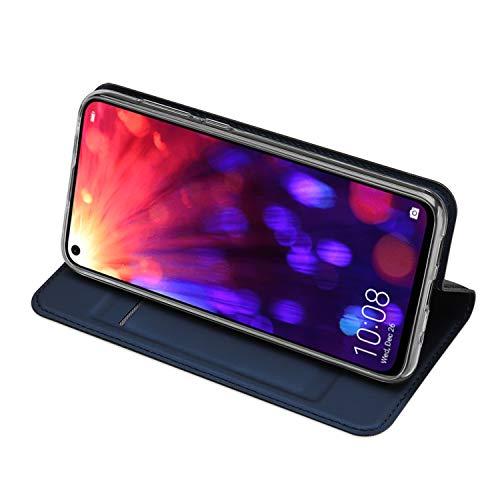 DUX DUCIS Hülle für Honor View 20, Leder Flip Handyhülle Schutzhülle Tasche Case mit [Kartenfach] [Standfunktion] [Magnetverschluss] für Huawei Honor View 20 (Blau) - 3
