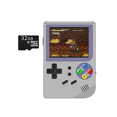 "RG300 OpenDingux Linux Open Source Retro Gaming Consola portátil de mano; Pantalla de 3 "", tarjeta microSD de 16GB, USB tipo C"