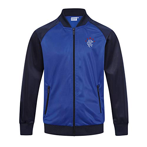 Rangers FC Official Soccer Gift Boys Retro Track Top Jacket 8-9 Years