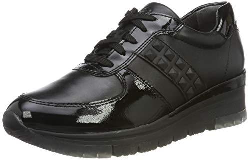 Tamaris Damen 1-1-23720-33 Sneaker, Schwarz (BLK Leath./PAT 74), 39 EU