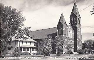 D9195 MN, Perham Catholic Church Photo Postcard