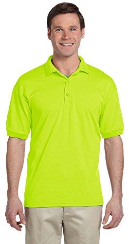 Gildan Men's DryBlend Preshrunk Short Sleeve Polo Shirt, Large, Lime