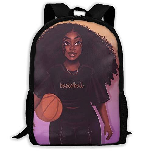 SARA NELL Mochila Escolar Negro Arte Africano Americano Mujeres Chica Afro Negro Mujeres Bookbag Casual Bolsa de Viaje para Adolescentes niños niñas