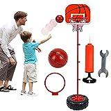 XRDSHY Canasta De Baloncesto para Niños, Ajustable Portátiles Tableros De Baloncesto para Deportes De Interior Y Exterior, con Soporte Ajustable En Altura 130-200cm,Red-170cm(68.5-170cm)