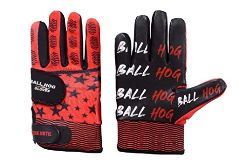 Ball Hog Gloves (Weighted) Anti Grip Ball Handling X-Factor (Basketball Training Aid) (Large)