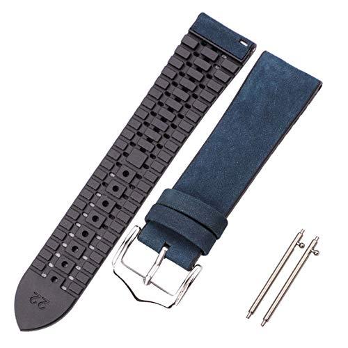 Simplicidad con estilo Pulsera de correa de reloj de cuero de vaca y silicona 18 20 22mm y femeninas impermeables impermeables de la correa impresionantes relojes de reloj accesorios Accesorios de rel