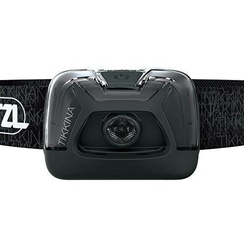 PETZL Tikkina Headlamp - Black, & E93990 POCHE Carrying Case for Ultra-Compact Headlamps