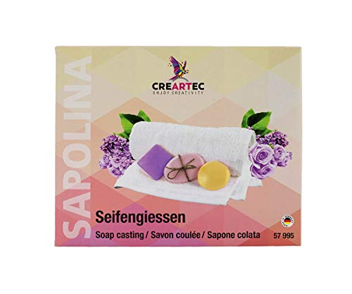 Sapolina CREARTEC Seifengießen - zweifarbige Glycerinseife - mit Seifendurftöl, Seifenfarben und Seifenform - Herstellung gut duftender Seifen - Made in Germany