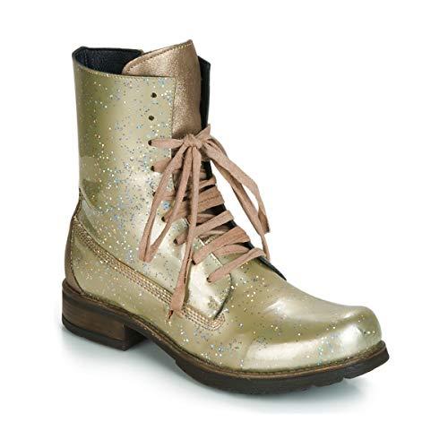 PAPUCEI Janet Botines/Low Boots Mujeres Verde/Beige - 38 - Botas de caña...