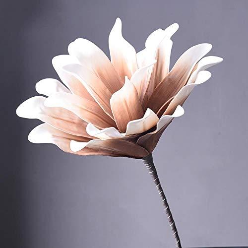 Kjsdzh Decorazione Decorativa Fiore Artificiale Soggiorno Composizione Floreale Ramo di Fiori Finti, Ninfea al Cioccolato