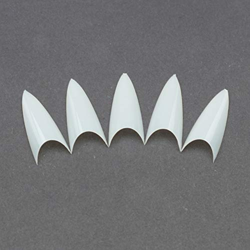 N/A False Nail Clear Natural White False Point Nail Tips