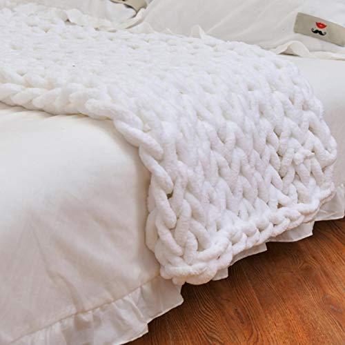 Chunky Wolle Garn DIY Handstricken Roving - Soft Bulky Arm Stricken Dicke Wolle zum Häkeln | Strickdecke Decke Garn für Riese Klobig Stricken Werfen Sofa Decke