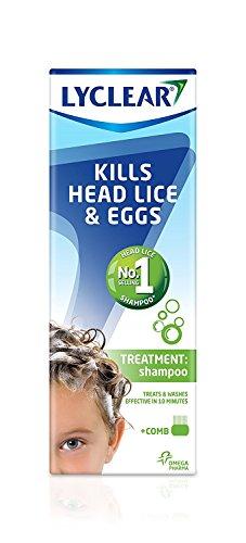 Lyclear Shampoo Head Lice Treatment + Head Lice Comb – Kills Head Lice...
