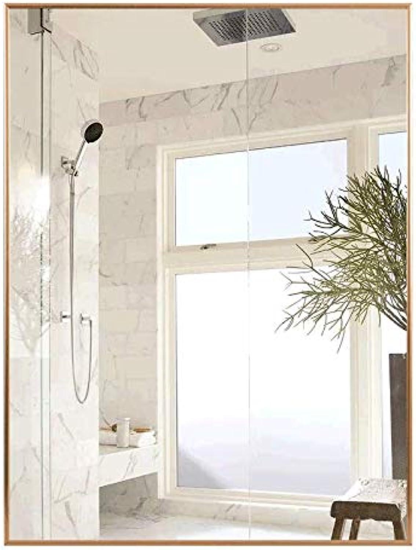 Mirror, Explosion-Proof Bathroom Mirror, Aluminum Frame Wall Mirror Rectangular Waterproof Sink Mirror