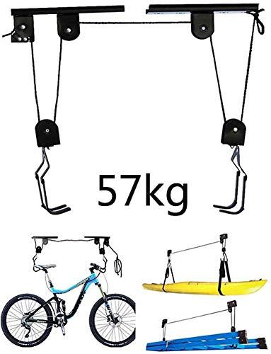 Fahrradhalter, Hängende Parkablage, Platzsparende Garagenlagerung Hebebühne Hebezeugständer Bis Zu 57 Kg, Geeignet Für Fahrräder