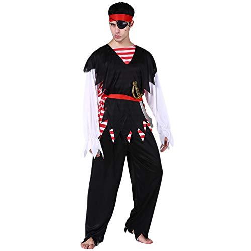 YuanDian Hombre Mujer Parejas Disfraz de Pirata de Halloween Conjuntos Carnaval Vestido Faciles Disfraces Maquillaje Adulto Cosplay Disfraces Ropa Trajes