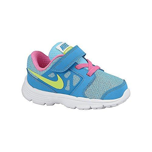Nike Downshifter 6 (TD) Calzatura, Blu/Rosa/Giallo/Bianco, 23.5
