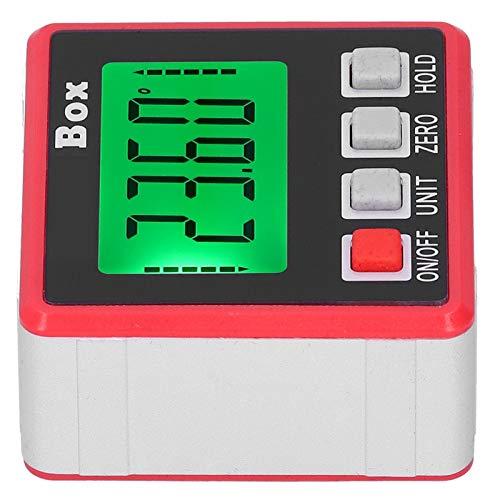Mini inclinómetro digital con indicador de ángulo de nivel, con base magnética, precisión de 0,1 ° para la instalación de carpintería, rango de medición de 4x90 °, retroiluminación