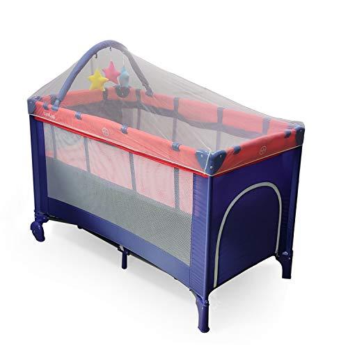LuvLap Elegant Baby Playpen Playard for Kids/Toddlers, Folding Baby Bed Cum Cot/Convertible Crib - (Blue)