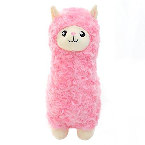 winsterch Kinder Plüschtiere Alpaka plüsch Spielzeug Weiche Plüsch Llama Plüschtier Püppchen Stofftier Alpaka Kuscheltier (Rosa, 30 cm) EINWEG