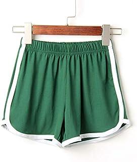 2018 Women Elastic Waist Short Pant Lady Summer Sport Shorts Beach Short Pants Soft Cotton All-Match Loos Short Femme : Green, XL, China