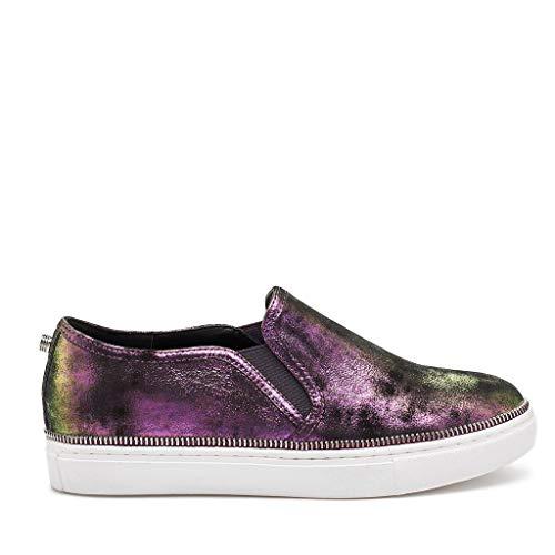 Harper Slip on Sneaker in Dark Iridescent