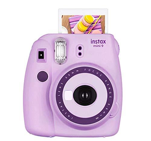 Fujifilm Instax Mini 9 Camera Purple +Fuji Instax Mini Camera Purple + Instax Mini 9 + Instax Camera Light Purple, Instant Camera Gift for Kids (Discontinued by Manufacturer)-Light Purple