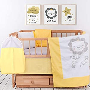 Crib Bedding Sets for Boys – 8-Piece Baby Bedding Set – Premium Turkish Cotton Baby Bedding – Breathable and Comfy Embroidery Nursery Decor – Includes Mattress Protector by pamooq