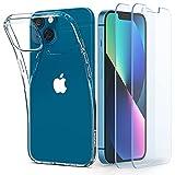 Spigen Crystal Pack Kompatibel mit iPhone 13 Mini Hülle 2 gehärtete Gläser enthalten Handyhülle...
